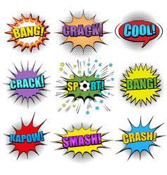 comic colorful speech bubbles set vector image