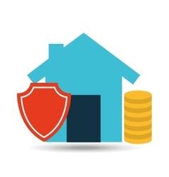 concept insurance house money security design vector image