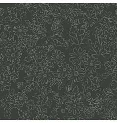 daisy background dark vector image