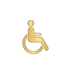 Disabled computer symbol vector
