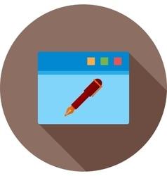 Edit Webpage vector