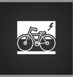 environment friendly transportation on black vector image