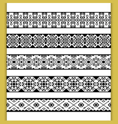 Ethnic lace patterns vector