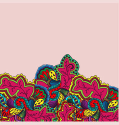 Floral pattern below vector