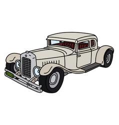 Funny vintage car vector