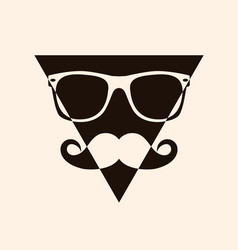 geek face hipster style set bowtie glasses vector image