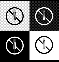 Gluten free grain icon isolated on black white vector