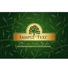 Green Greeting card vector image