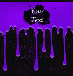Grunge violet color drops vector