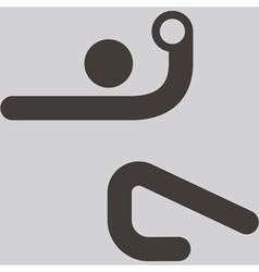 handball icon vector image