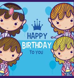 Happy birthday card for boys vector
