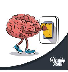 healthy brain concept icon ilustration vector image
