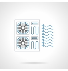 House cooling flat line icon vector image
