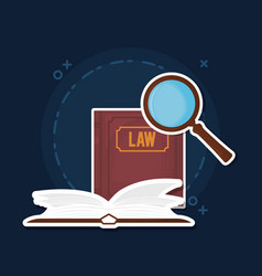 Law books icon vector