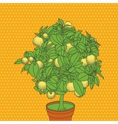 Lemon citrus tree vector