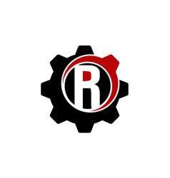 letter ri modern industry vector image