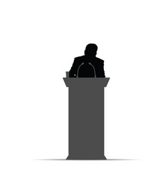 Man silhouette orator vector