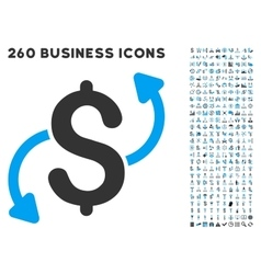 Money Transfer Icon with Flat Set vector