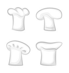 monochrome 3d chef cook hats various design set vector image