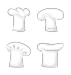 monochrome 3d chef cook hats various design set vector image