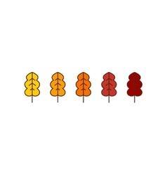 oak autumn leaves icons vector image