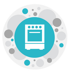 Of cook symbol on cooker icon vector