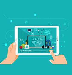 Online educatins concept vector
