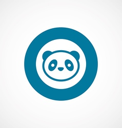Panda bold blue border circle icon vector