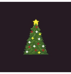 Pixel Christmas Tree vector image