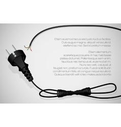 Power plug vector