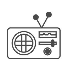 radio advertisement isolated icon vector image