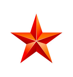 Red 3d star with golden 3d star with highlights vector