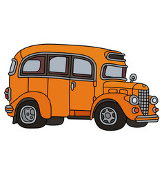 retro orange bus vector image
