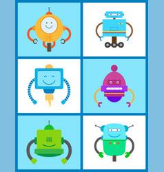 Robots creature collection vector