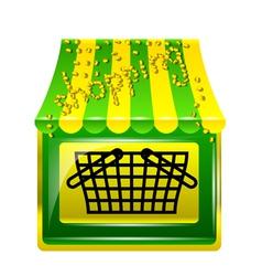 Shopping store icon vector
