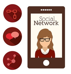 social network design vector image