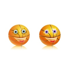 Sport basketball ball with face vector