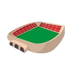 Sports stadium cartoon icon vector image