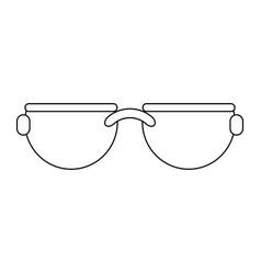 Sunglasses fashion accesorie black and white vector