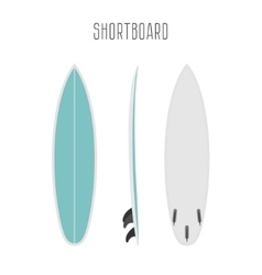 Surf short board with three sides vector