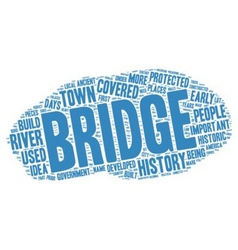 The History of Covered Bridges text background vector