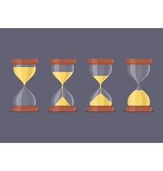 Transparent sandglass icon set vector image