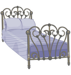 Tucked bed vector