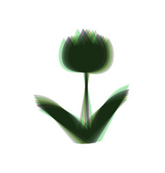 Tulip sign colorful icon shaked with vector