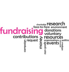 Word cloud fundraising vector