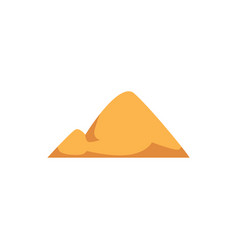 Yellow sand pile with double hill shape isolated vector