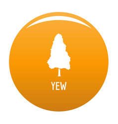 yew tree icon orange vector image