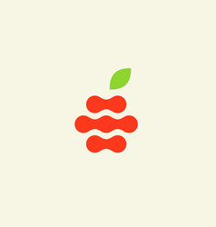 abstract apple logo design template fruit vector image