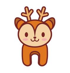 cartoon deer animal image vector image