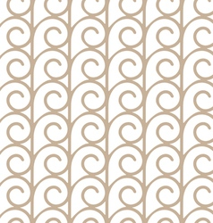 Elegant seamless pattern with beige swirls vector image vector image